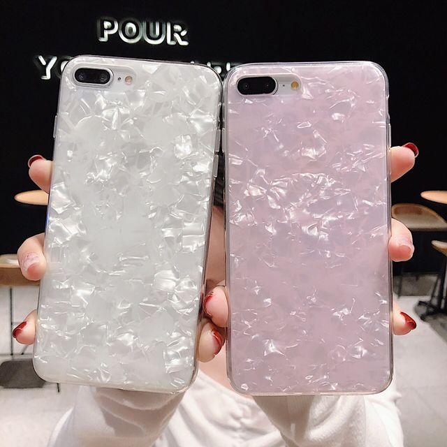 Solid Color Shell Pattern Xs Phone Shell For Iphone7 All-inclusive Imd Anti-fall 6s Simple 8p Fashion Female