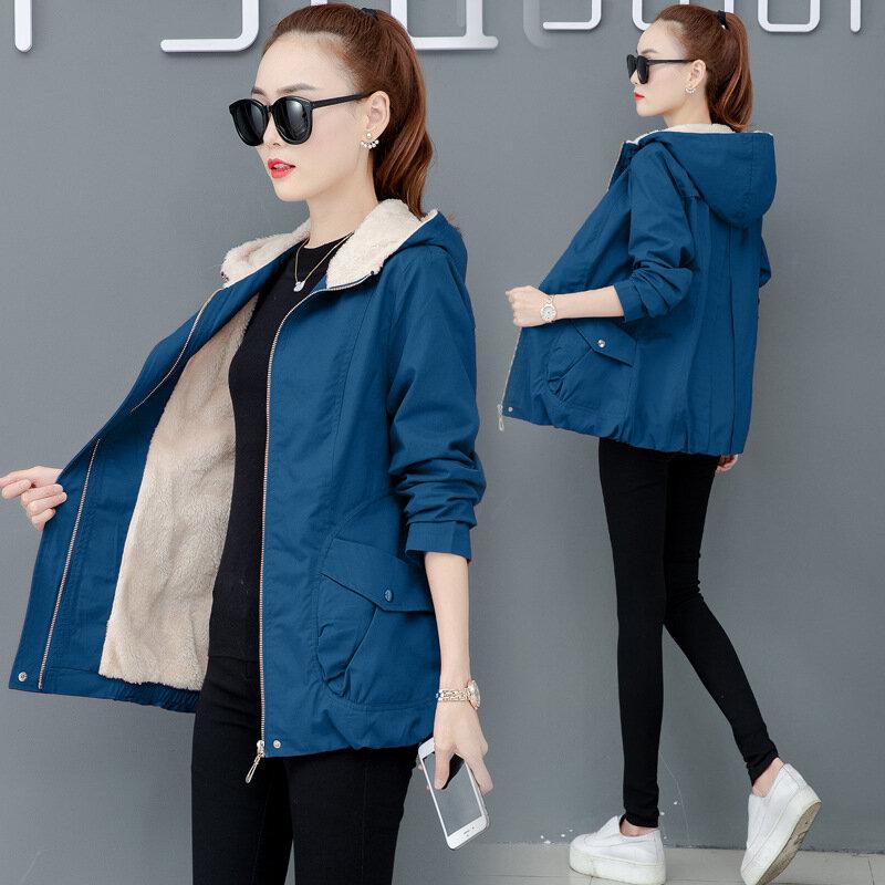 Plus Thick Coat Large Size Medium Long Section LooseThin Hooded Cotton Coat