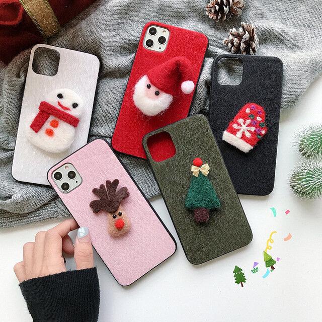 アップルオールインクルーシブのクリスマス立体電話ケース