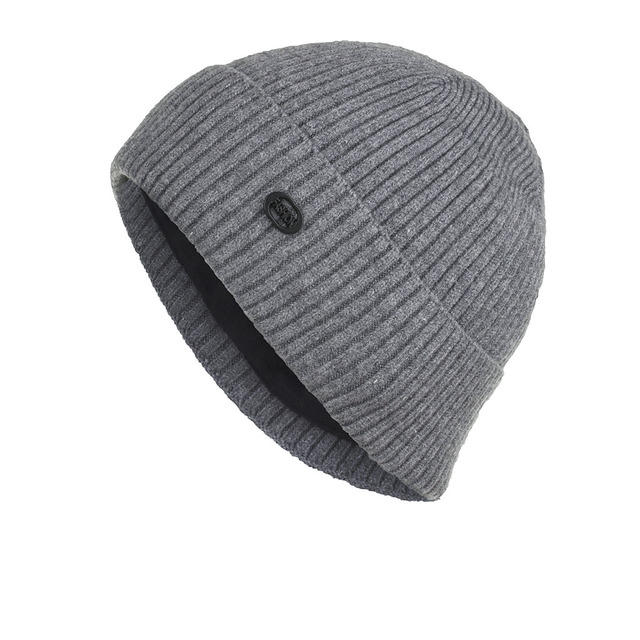 New Plus Pinstriped Head Cap Knitted Sweater Cap