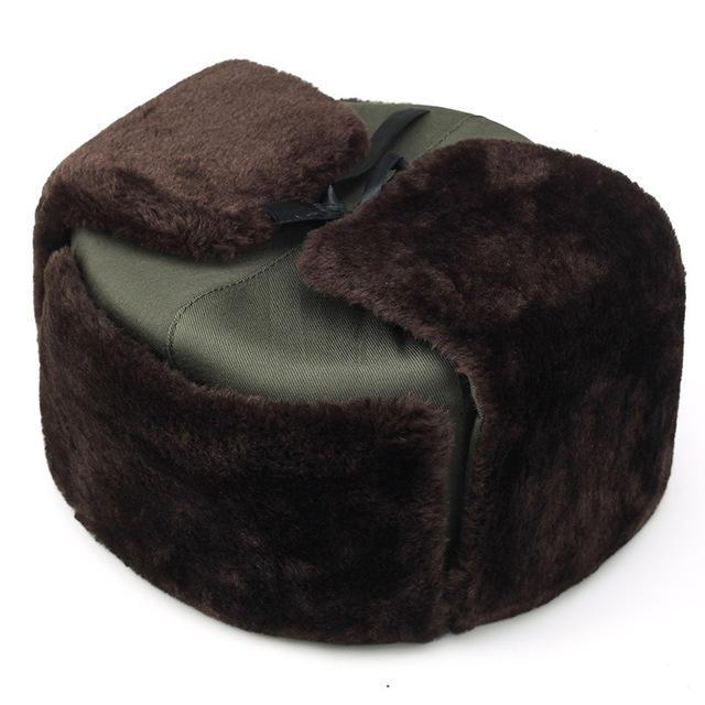 Men's Windproof Caps Thick Warm Russian Hat