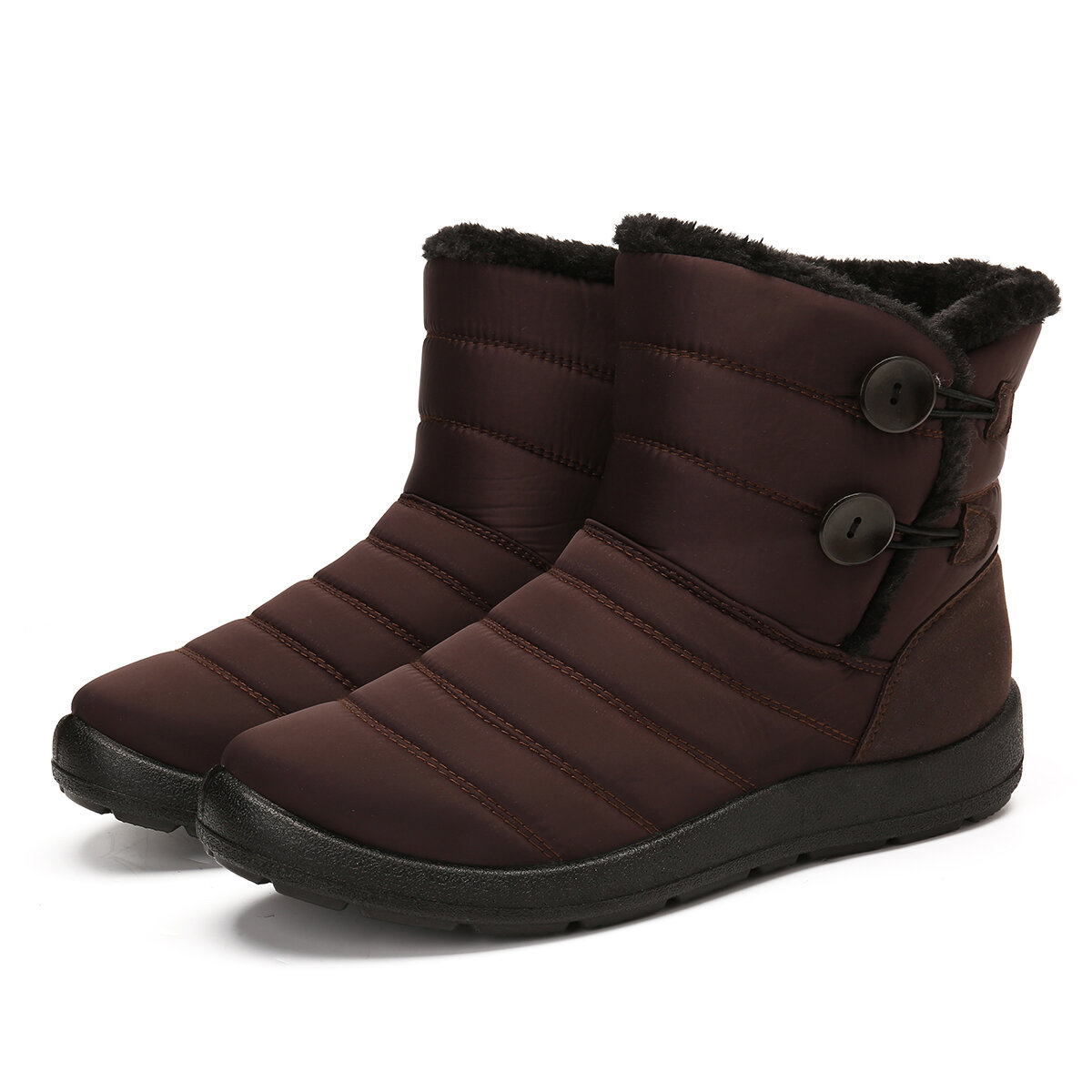 Designer ZJL476950 Buckle Cold Resistant Warm Fur Lining Snow Ankle Boots For Women
