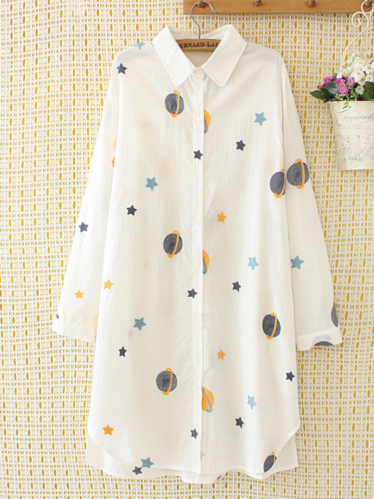 Star_Planet_Print_Lapel_Shirt_for_Women