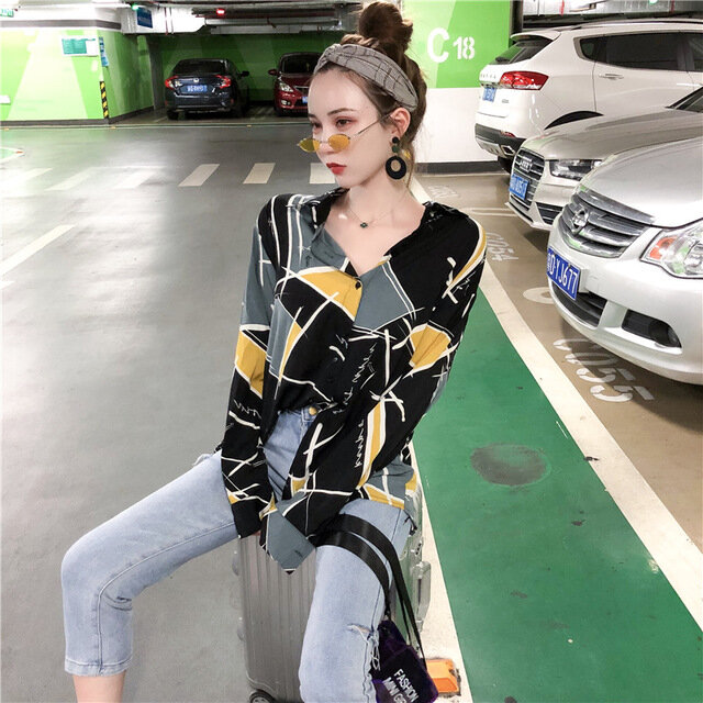 Hong_Kong_Style_Retro_Chic_Temperament_Printing_Loose_Wild_Longsleeved_Shirt_Fashion_Handsome_Sunscreen_Shirt_Female_Ne