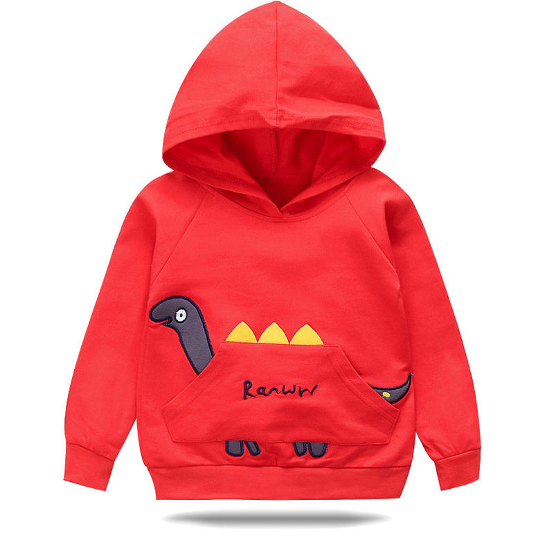 Toddler Girls and Boys Dinosaur Cartoon Long Sleeves Casual Sweater For 2-11Y