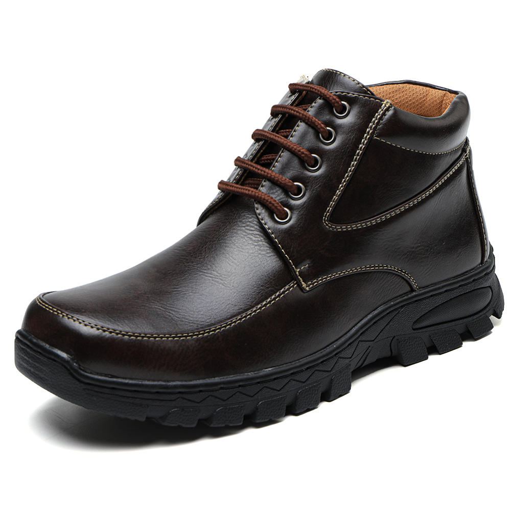 Men Microfiber Leather Non Slip Outdoor Casual Ankle Boots