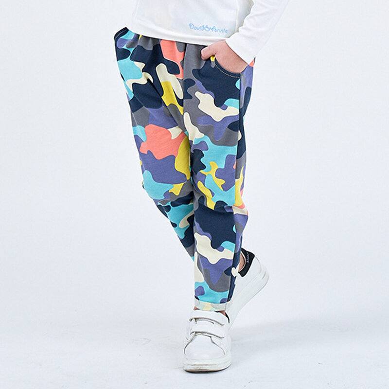 Girl's and Boy's Colorful Camouflage Casual Pants For 2-8Y
