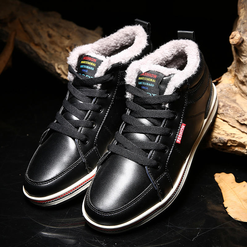 High-quality Men British Stylish Microfiber Leather Warm Lining Casual Ankle Boots