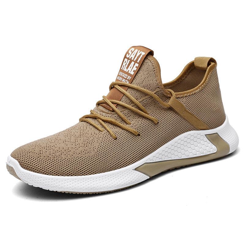 Men Fabirc Mesh Comfy Non Slip Running Casual Sneakers