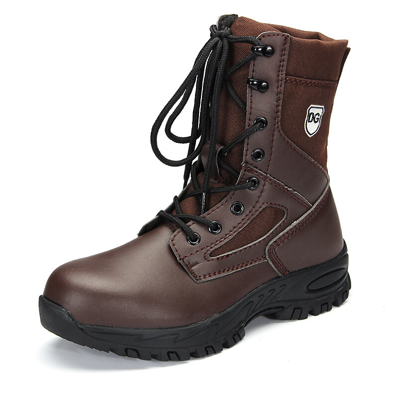 Men Outdoor Steel Toe Cap Slip Resistant Work Mid-Calf Safety Boots