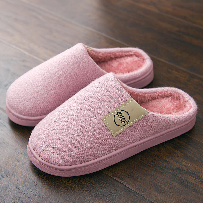 Women Home Slippers Plush Flat Indoor Shoes