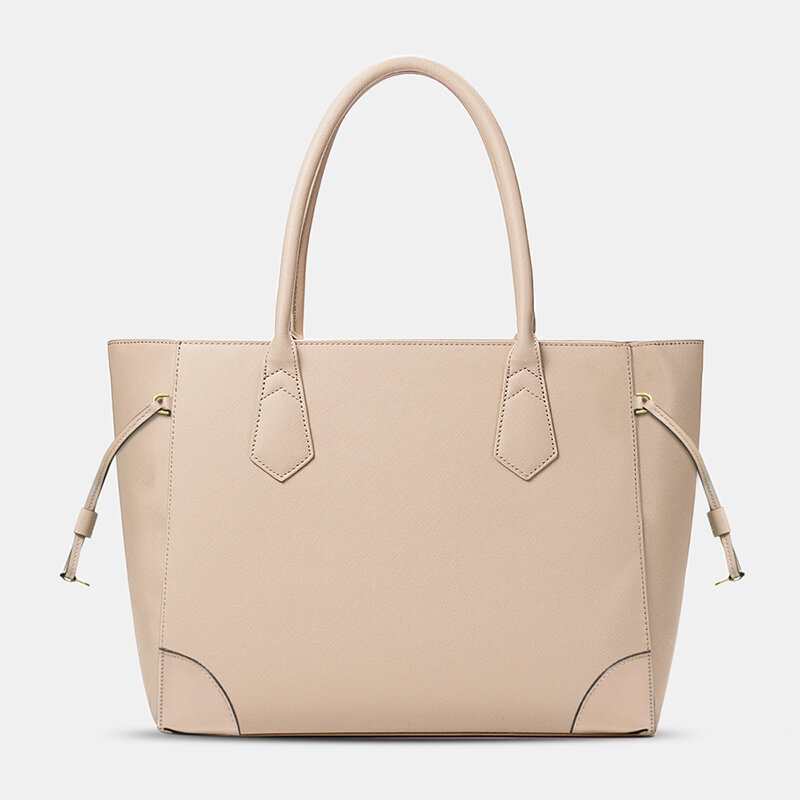 QUEENIE_Women_Shopping_Multifunction_Handbag_Solid_Shoulder_Bag