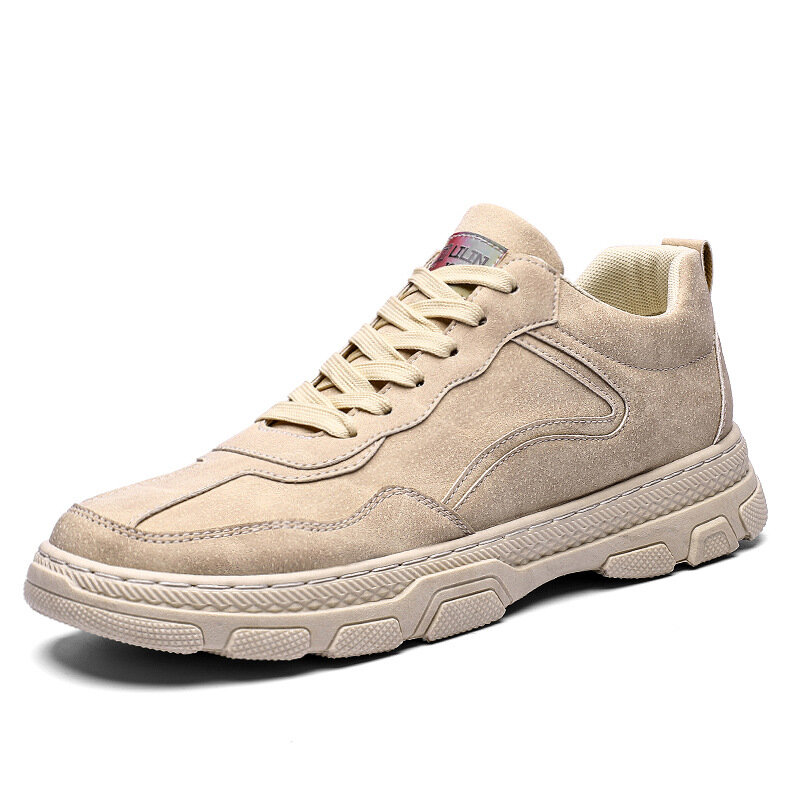 Men Synthetic Leather Trainers Comfort Light Weight Casual Sport Shoes