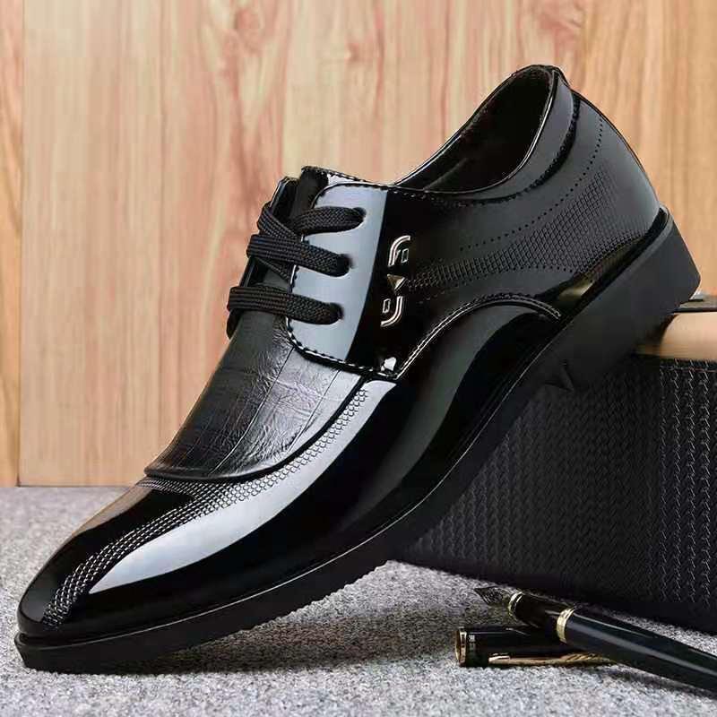 Men Classic Black Lace Up Business Formal Dress Casual Shoes