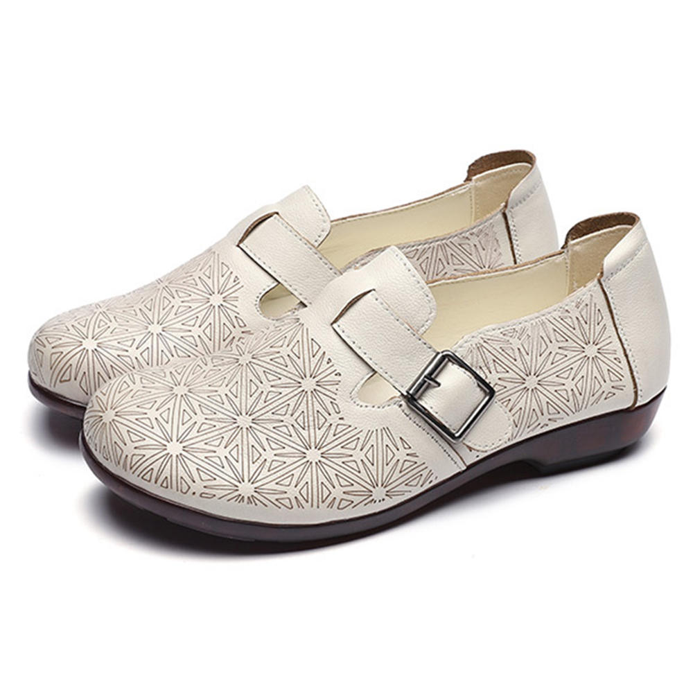 Patent Leather Round Toe Slip On Women Soft Flat Shoes