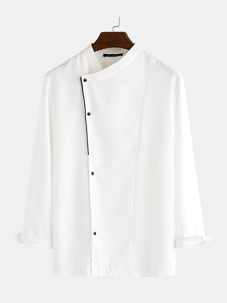 Men Single Breasted Catering Uniform Chef Shirts
