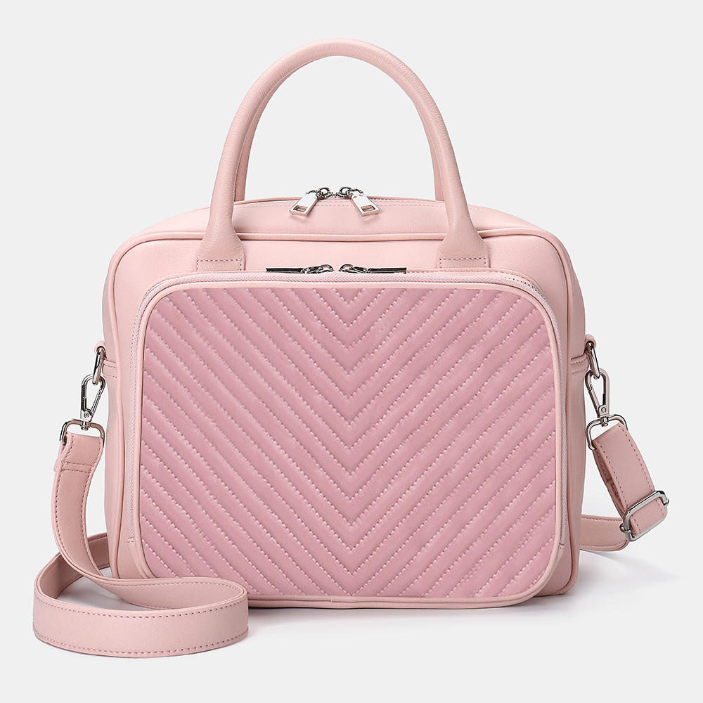 Women Designer Striped Travel Laptop Bag Crossbody Bag