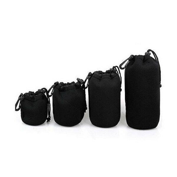 4Pcs Soft Neoprene S M L XL Lens Pouch Bag For Canon Sony Pentax DSLR Camera