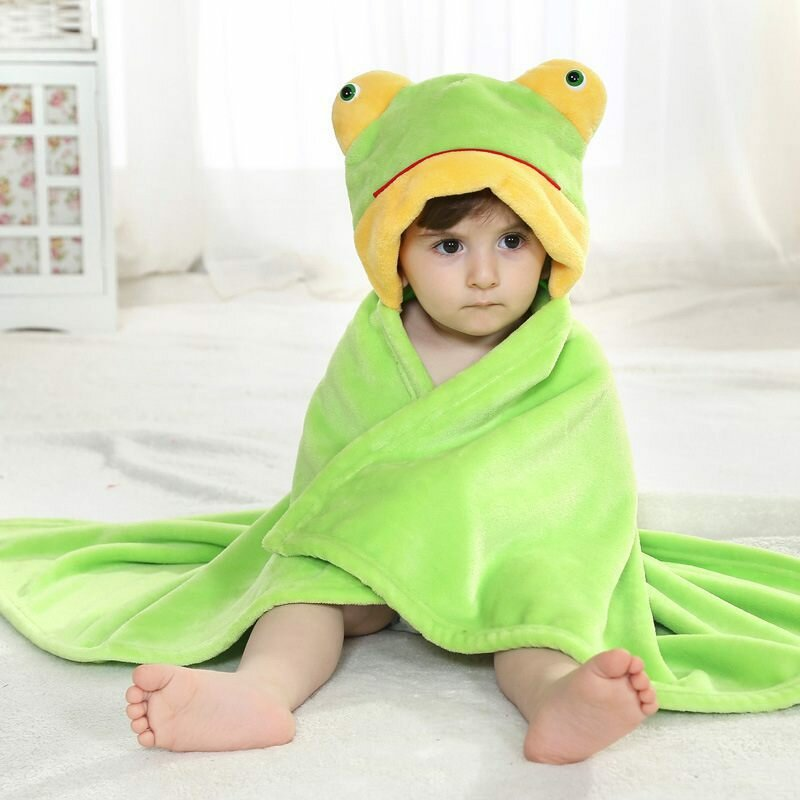 प्यारा जानवर कार्टून बेबी शिशु लपेटें पेरिस पेरिस Soft फलालैन कंबल रजाई बाथरोब