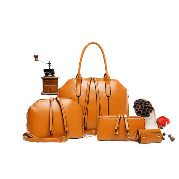 Women Casual Totes PU Leather Shoulder Crossbody 4sets Bags