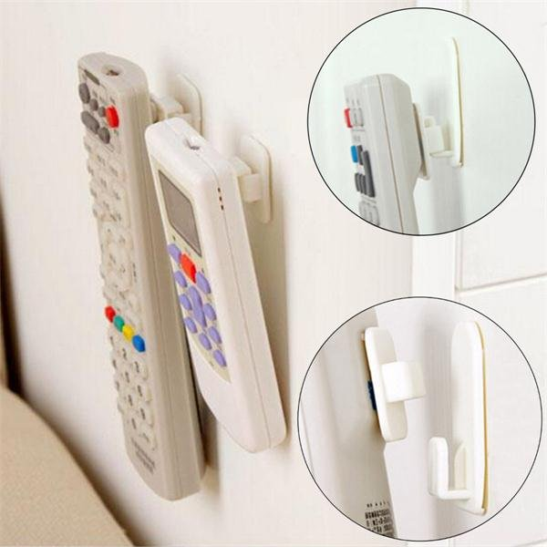 2 Set TV Remote Control Air Conditioning Sticky Hook Self Adhesive Strong Hanger Holder Wall Sensor