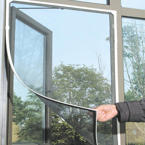 1.3x1.5m Black Anti Mosquito Pest Window Net Mesh Screen Curtain Protector