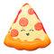 Smiley Face بيتزا لعبة اسفنجي لينة مع التعبئة الأصلية