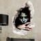 Halloween 3D Sticker Bedroom Living Room Haunted House Decor Wall Stickers Ghost Through The wall - #2