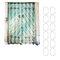 180 cm x 180 cm rústico de madeira porta do celeiro do banheiro tecido impermeável cortina de chuveiro de flanela tapete de banho