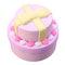 Squishy en forma de tarta doble nudo lazo con regalo de colección de envases  - Violeta claro