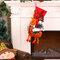 Calcetín de Navidad con decoración de muñeco de nieve 3D, calcetín colgante para regalo Bolsa - Rojo