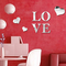 3D Multi-color Love Silver DIY Shape Mirror Wall Stickers Home Wall Bedroom Office Decor - Silver