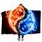 Yin and Yang Bejirog Hooded Blankets Cloak Warm Wearable Plush Thick Nap Soft Mat - #3