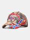 ユニセックスコットンレターパターン刺繡ジャングルリーフプリントベースボールキャップ - #01