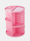 360 Rotating Makeup Organizer Detachable multifunctional Cosmetic Storage Box - Pink
