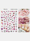 3D Nail Art Stickers Heart Colorful Red Lip Nail Transfer Decals Valentine's Day Tips - #09