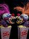 1 الكمبيوتر هالوين مصنوع يدويًا مهرج فني مجموعة مثالية زينة الإرهاب المنزل شخصيات أنيمي الإبداعية اللعب - البرتقالي