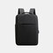 Men Oxford USB Charging Light Weight Large Capacity 15.6 Inch Laptop Bag Backpack - Black