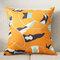 Оранжевый Аннотация Шаблон Хлопок Подушка Белье Чехол Домашний Ткань Диван Средиземноморский Чехол для подушки