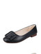 Women Squared Toe Comfy Soft Slip On Loafers Casual Flat Ballet Shoes Versatile Shoes - Black