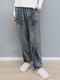 Women Solid Color Flannel Thick Warm Casual Comfortable Home Sleepwear Pants - Gray