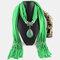 Bohemian Dacron Multi-layer Necklace Handmade Teardrop Pendant Tassel Women Scarf Shawl Necklace - 11