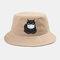 Cute Cat Isolated Hat Cotton Quarantined Bucket Cap  - Khaki