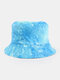 Women & Men Corduroy Multicolor Tie Dye Casual Soft Outdoor All-match Bucket Hat - #10