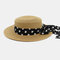 Women Flat Hat Outdoor Travel Jazz Straw Hat Sun Protection Sun Hat Beach Hat - Khaki
