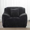 Solid Color Plush Thicken Elastic Sofa Cover Universal Sectional Slipcover 1/2/3 seater Stretch Couch Cover - Black