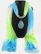 Bohemian Chiffon Gradient Scarf Necklace Drop-Shape Pendant Women Necklace - #02