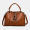 Women Casual Solid Crossbody Bag - Brown