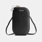 Women Oval Solid 6.3 Inch Phone Crossbody Bag Phone Bag - Black