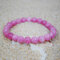 Bohemian Multicolor Crystal Beaded Bracelets Amethyst Elastic Rope Tassel Pendant Women Jewelry - #06